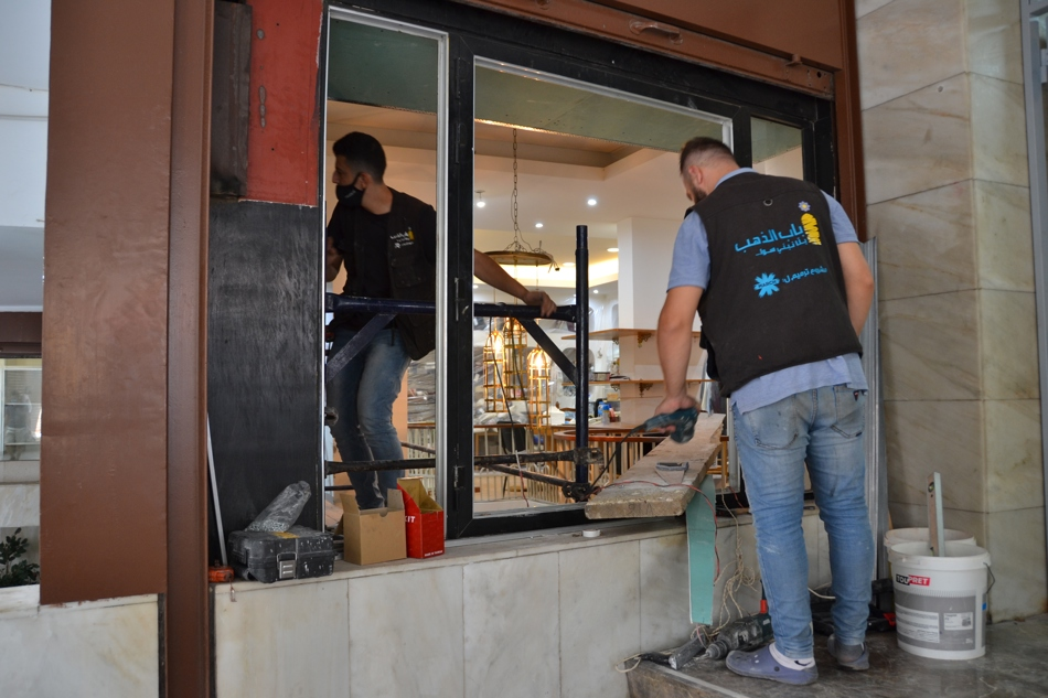 BEDCO by March workers renovating L'artisan du Liban's showroom